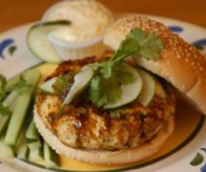 Pacific Rim Chicken Burgers with Ginger Mayonnaise