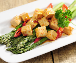 Pan-Fried Tofu with Spicy Lemongrass Sauce