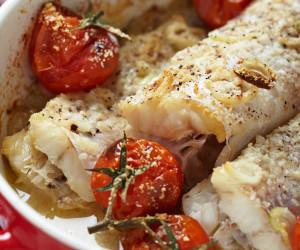 Parmesan Tilapia with Tomato & Basil Cream Sauce