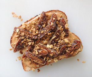 Peanut Butter and Fig Toast with Granola