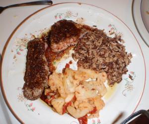 Peppered Tuna Loin, Potato Gallette, Greens And Ponzu Sauce