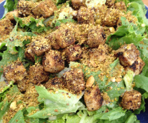 Pistachio-Crusted Tofu Salad with Lemon-Tahini Dressing - BigOven