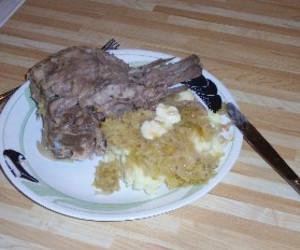 Pork Neck Bones and Sauerkraut