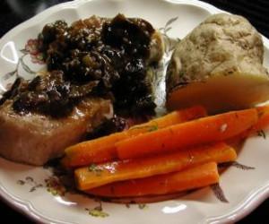 Pork with Armagnac Prune Sauce