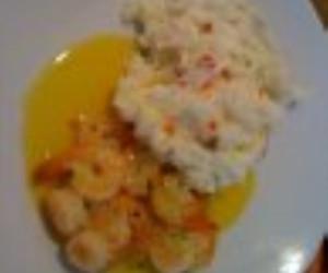 Potato Salad and Shrimp Scampi