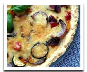 Quiche with Aged Gouda and Roasted Vegetables