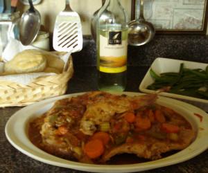 Rabbit Stew in White Wine Sauce (Pressure Cooker)
