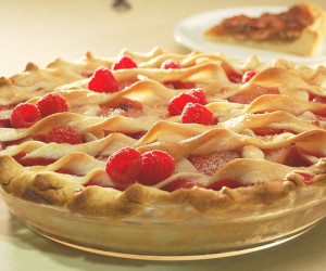 Raspberry, Rhubarb And Pear Pies