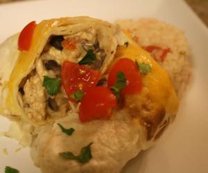 Roasted Chipotle Chicken Burritos