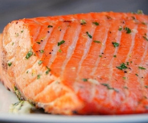 Salmon on the Grill with Lemon Butter