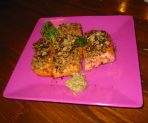 Salmon with a Mustard Dill Crust