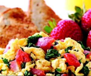 Scrambled Eggs Florentine
