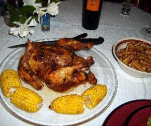 Spicy Roasted Chicken W/garlic Sauce