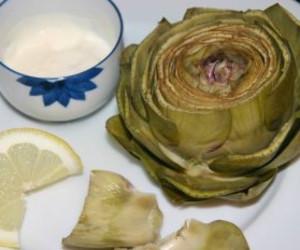 Steamed Artichoke with Lemon-Shallot Dip