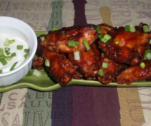 Sticky, Sweet Chicken Wings