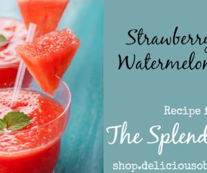 Strawberry Mint Watermelon Slush from The Splendid Scoop