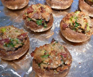 Stuffed Mushroom Caps