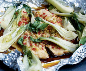 Thai-style steamed fish