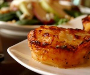 Twice Baked Mini Potato Dauphinoise - Potato Gratin Muffins