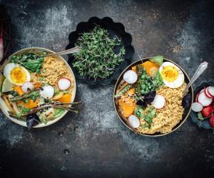 Vegetarian Spring Curry Ramen