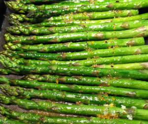 Veggie: Asparagus with Dijon-Lemon Sauce