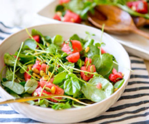 Watercress Salad with Watermelon and Sweet-Sour Onion