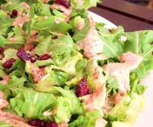 Winter Green Salad with Cranberry Vinaigrette