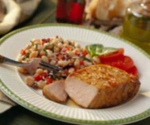 Zesty Italian Pork Chops with Cannellini Salad