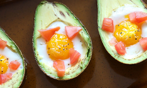 Baked Eggs & Avocados