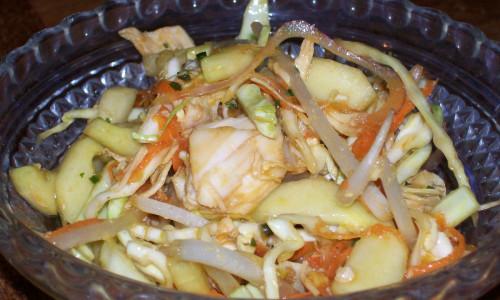 Carrot-Cucumber Sambal with Chicken