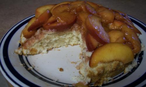 Cinnamon Peach Shortcake