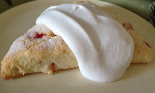 "Currant Scones with Coconut ""Clotted"" Cream"