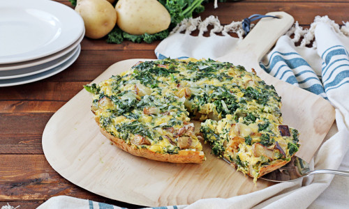 Potato, Kale, and Pecorino Frittata