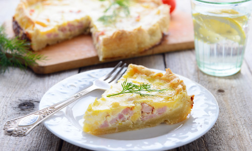 Leek & Bacon Quiche