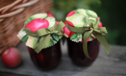 No-Cook Apple Raspberry Jam