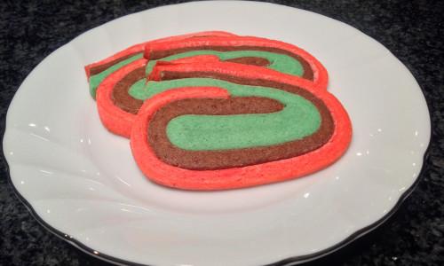 Rainbow Ribbons Refrigerator Cookies