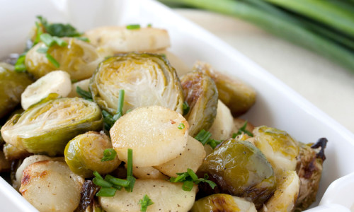 Savory Garlic Brussels Sprouts