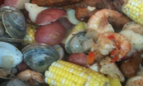 Shrimp/Sausage/Potato/Corn Boil
