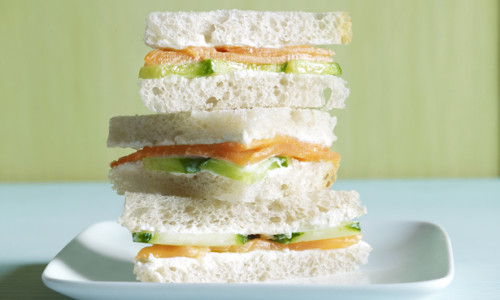 Smoked Salmon & Wasabi Mayo Sandwich
