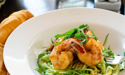 Spicy No Pasta Shrimp Linguine