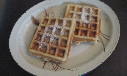 Traditional Waffles - with a dense texture