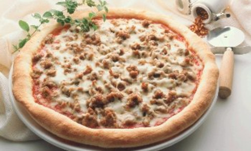 Turkey Sausage Pizza