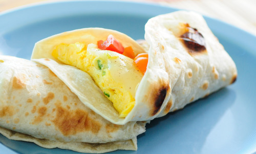 Vegetable Egg Fajitas