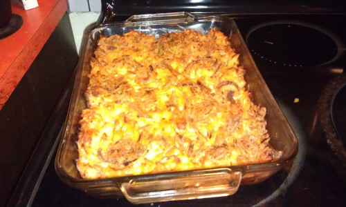 Velveeta Hamburger and Noodle Casserole