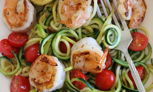 Zucchini Noodles with Lemon-Garlic Shrimp